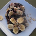 Gluten-Free Pancakes with Blueberry-Ginger Syrup & Bananas