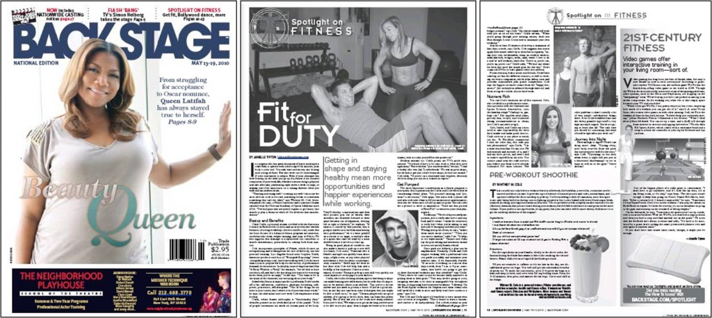 Backstage Magazine - Fit for Duty - Whitney Cole - May 13 2010