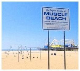 Original Muscle Beach Sign