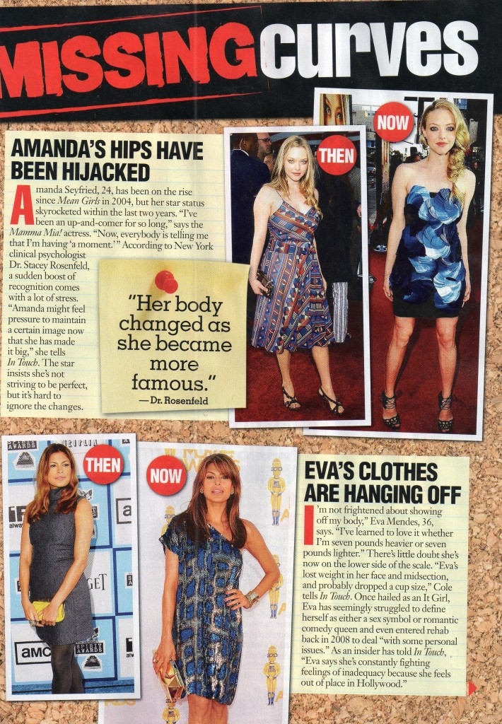 In Touch July 5 2010 p. 53 - Fitness Expert Whitney Weighs in Amanda Seyfried + Eva Mendes