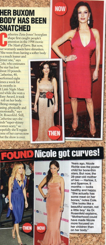 In Touch July 5 2010 p. 55 - Fitness Expert Whitney Weighs in Catherine Zeta Jones + Nicole Richie