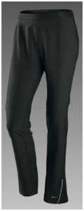Nike Lightweight Womens Open Hem Running Pants - Front