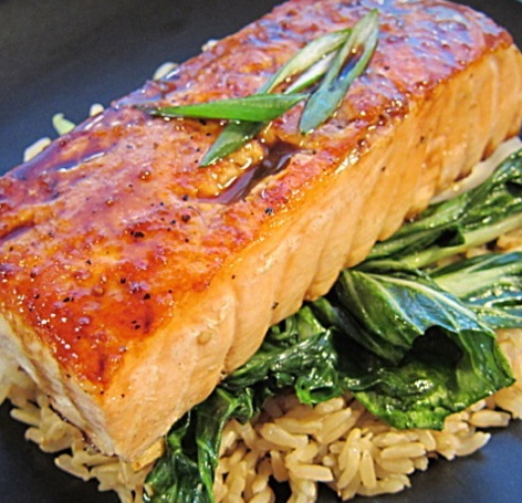 Salmon with Chimichurri Sauce
