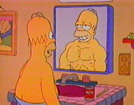 Homer with Muscles