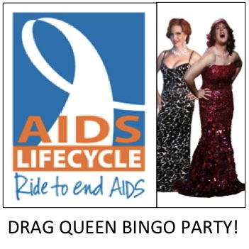 Drag Queen Bingo Fundraiser AIDS LifeCycle May 11 Elevation Fitness Weho