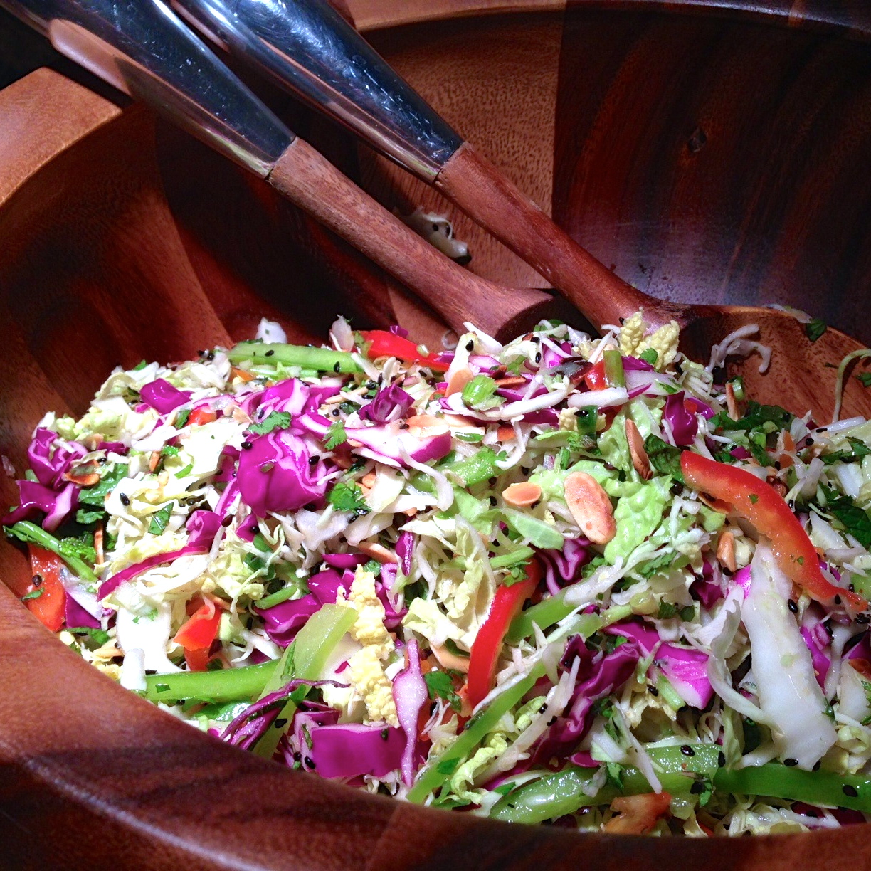 Rainbow Thai Slaw Salad