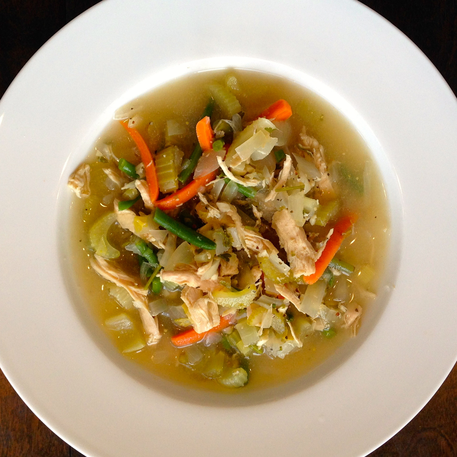 Hearty Chicken Vegetable Soup - Gluten Free and Low Sodium - Fitness and Fuel LA - Whitney Cole Trainer