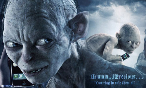 Gollum Loves Precious iPhone