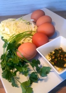 Herb Egg Bowl Ingredients