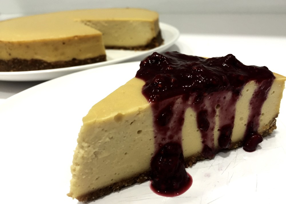 Cheesecake - High Protein Paleo Dairy Free with Berry Compote
